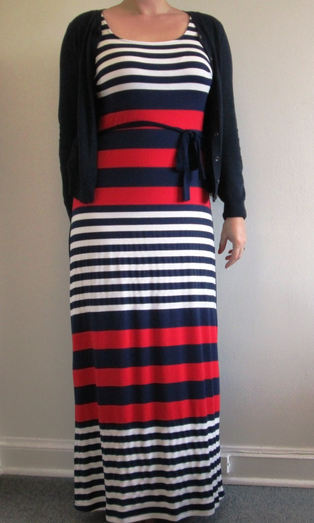 StitchFix striped maxi dress