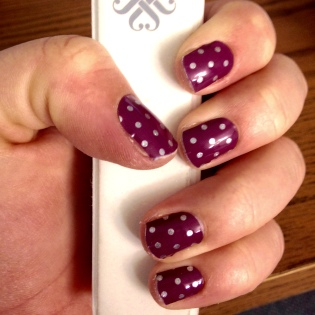icy boysenberry polka dot